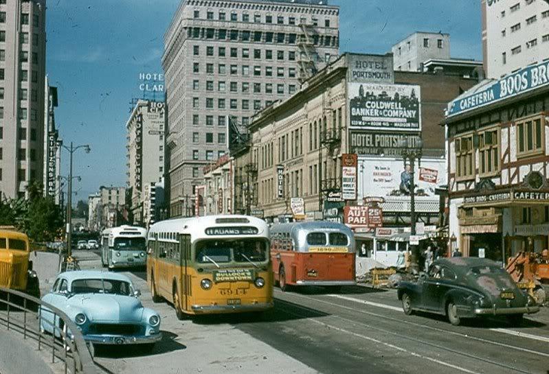 custom cars in the street ( 1950's & 1960's) A50710