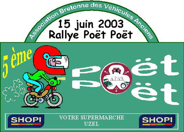 souvenirs -souvenirs !!!!!   POET POET 2003  Pp200310