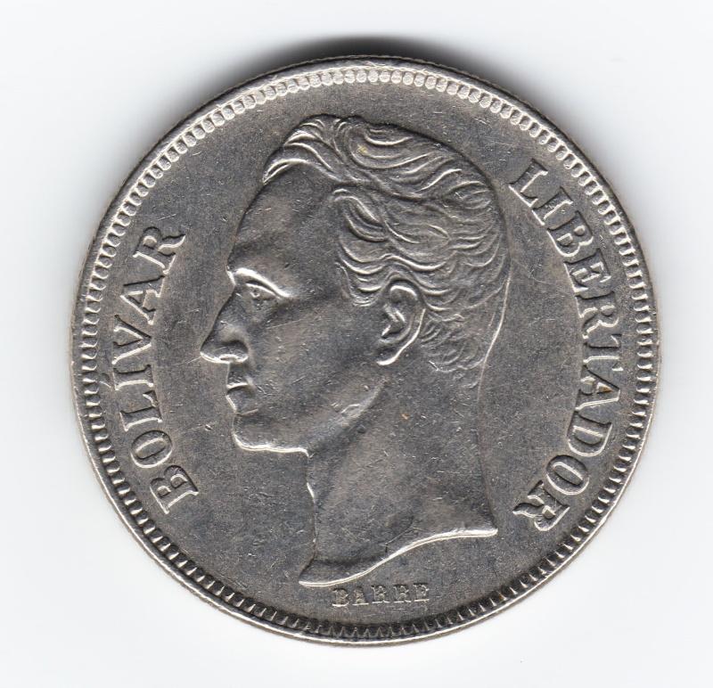5 Bolivares. Venezuela. 1977. Madrid Img79410