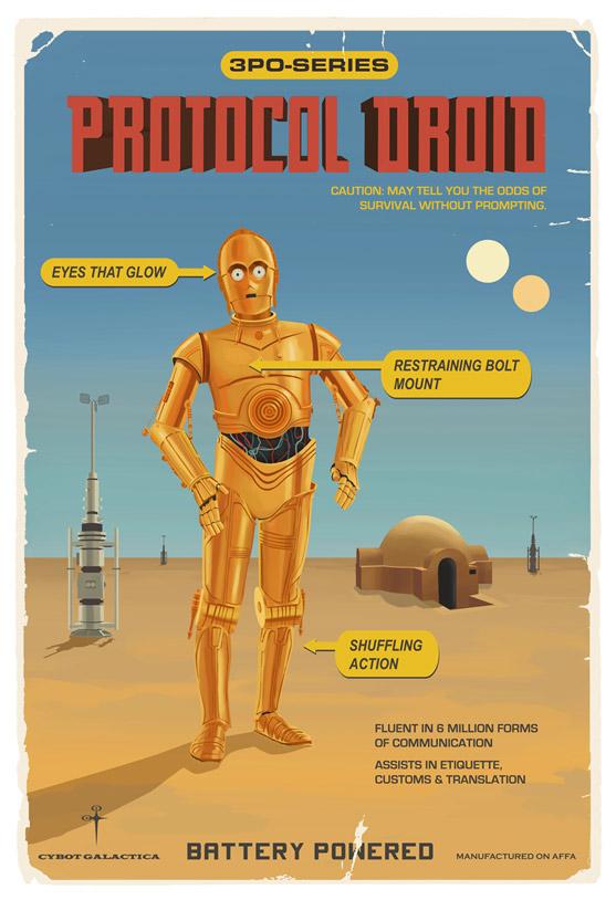 Artwork Star Wars - ACME - Protocol Droid Protoc10