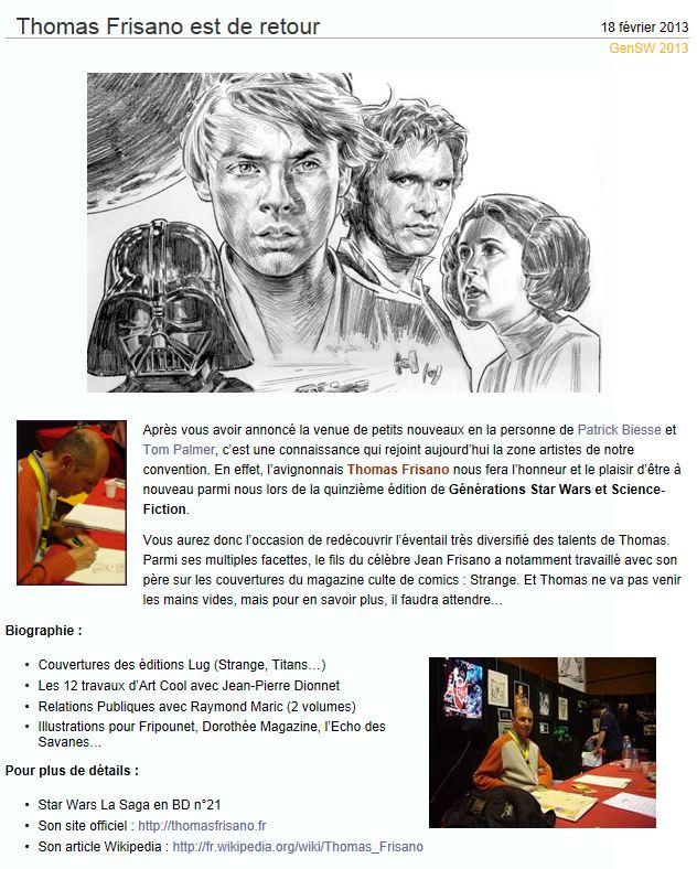 Générations Star Wars & SF - Cusset (03) 27-28 Avril 2013 - Page 4 Thomas10