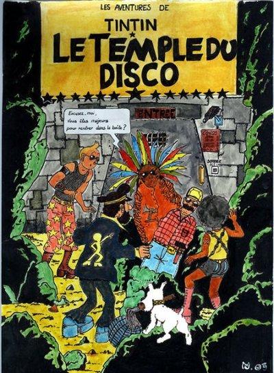 Détournements de BD Tintin Tintin19