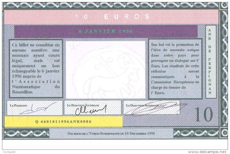 Premiers billets en Ecu/Euro Perpig11