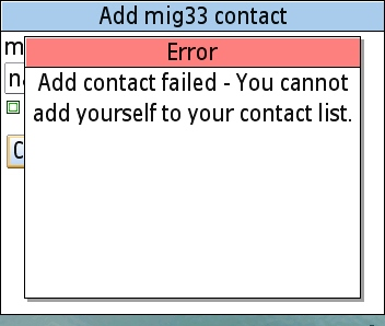 Failed to Add Personal Contact Failed10
