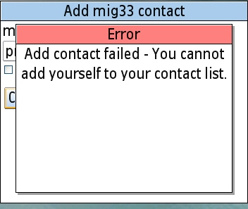 Failed to Add Personal Contact Failed15