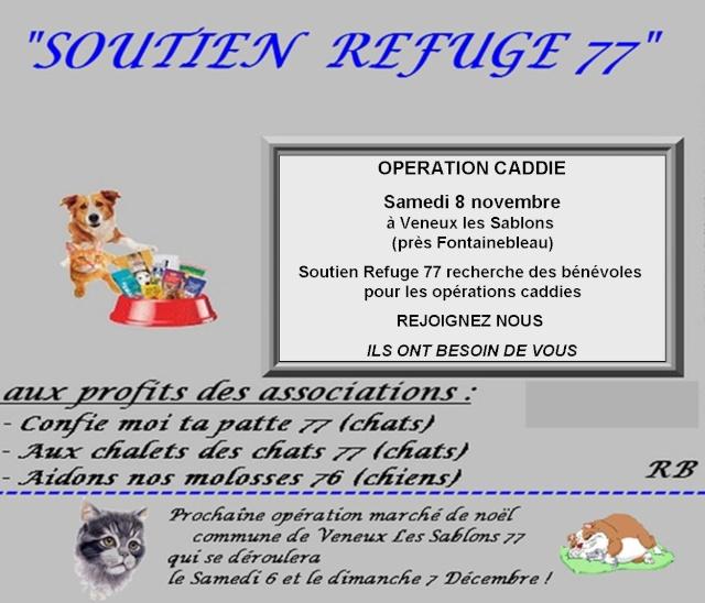 Opérations caddies Soutien Refuge 77 Soutie12