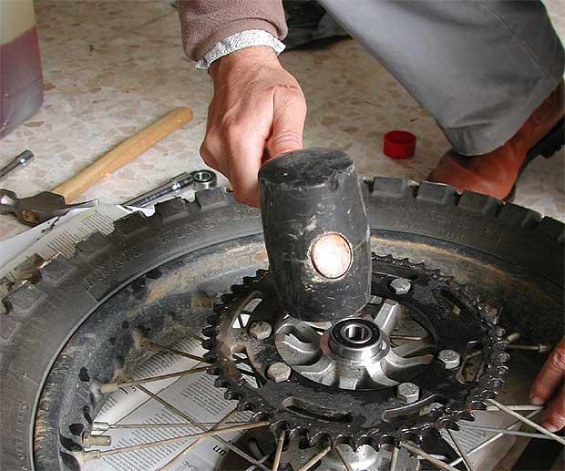 Cambiar rodamientos de la rueda trasera Foto410