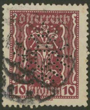 Lochung auf Briefmarken - Perfin - Österreich 01_112