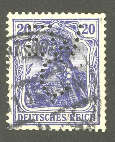 Deutsches Reich   -   Firmenlochungen 02_110