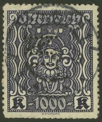 Lochung auf Briefmarken - Perfin - Österreich 02_112