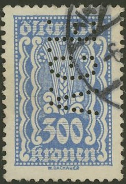 Lochung auf Briefmarken - Perfin - Österreich 03_112