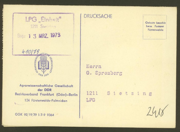 Dienstpost in der DDR 04010
