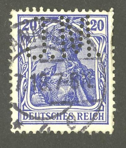 Deutsches Reich   -   Firmenlochungen 04_110