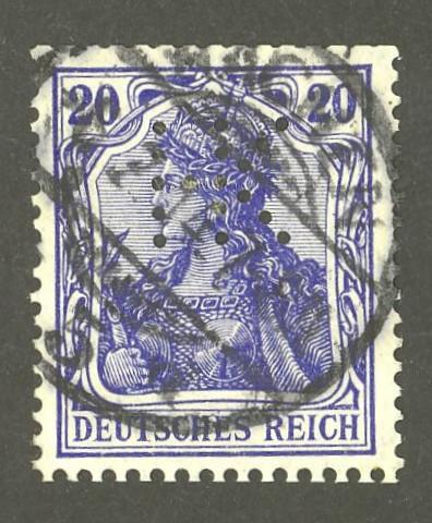 Deutsches Reich   -   Firmenlochungen 05_110