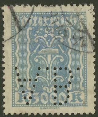 Lochung auf Briefmarken - Perfin - Österreich 05_111