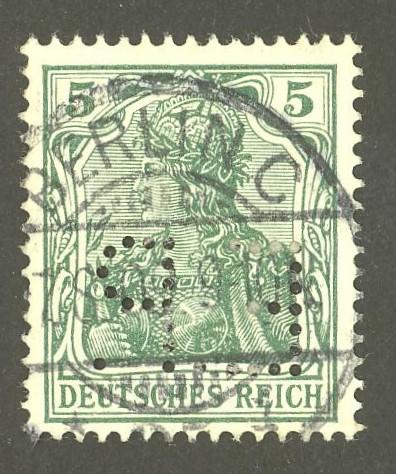 Deutsches Reich   -   Firmenlochungen 06_110
