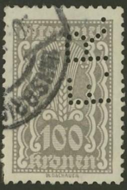 Lochung auf Briefmarken - Perfin - Österreich 06_111