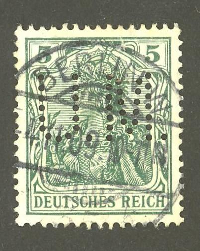 Deutsches Reich   -   Firmenlochungen 07_110
