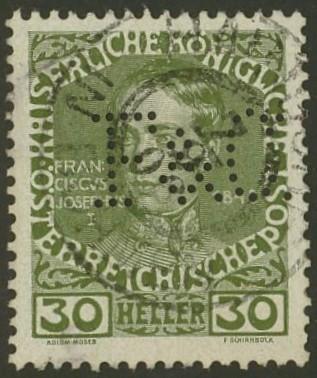 Lochung auf Briefmarken - Perfin - Österreich 07_111