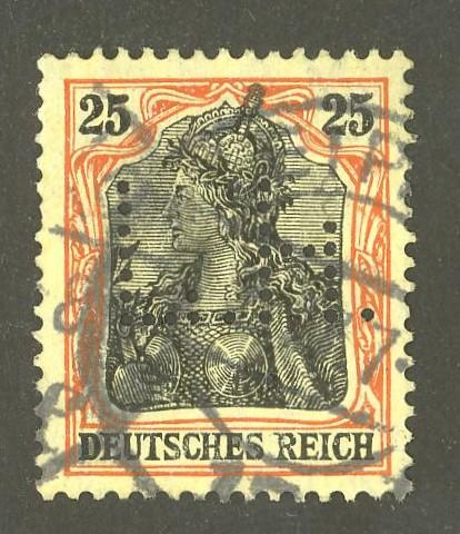 Deutsches Reich   -   Firmenlochungen 08_110