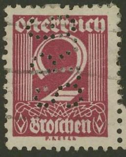 Lochung auf Briefmarken - Perfin - Österreich 08_111
