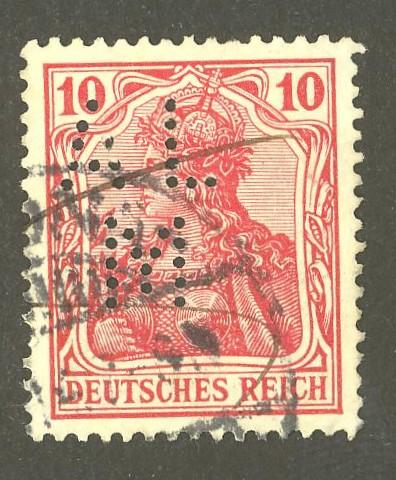 Deutsches Reich   -   Firmenlochungen 09_110