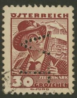 Lochung auf Briefmarken - Perfin - Österreich 09_111