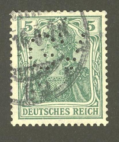 Deutsches Reich   -   Firmenlochungen 10_110