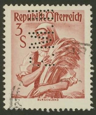 Lochung auf Briefmarken - Perfin - Österreich 10_111