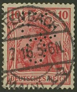 Deutsches Reich   -   Firmenlochungen 11_110