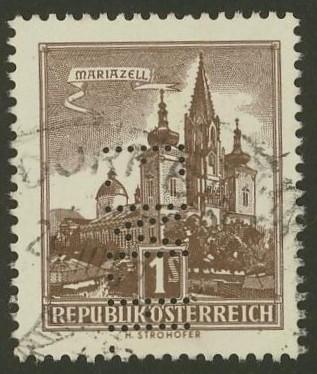 Lochung auf Briefmarken - Perfin - Österreich 11_111