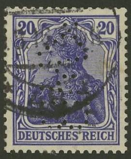 Deutsches Reich   -   Firmenlochungen 12_110