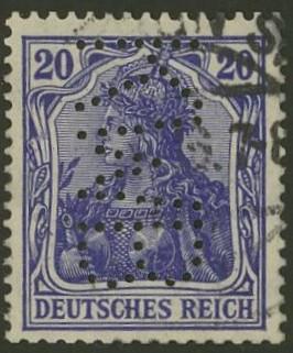Deutsches Reich   -   Firmenlochungen 13_110