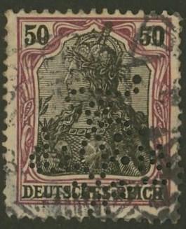 Deutsches Reich   -   Firmenlochungen 14_110