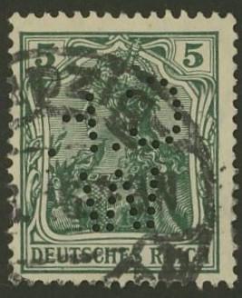 Deutsches Reich   -   Firmenlochungen 15_110
