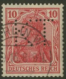 Deutsches Reich   -   Firmenlochungen 16_110