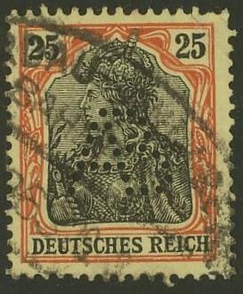 Deutsches Reich   -   Firmenlochungen 17_110