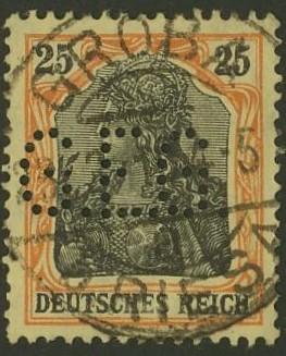Deutsches Reich   -   Firmenlochungen 18_110