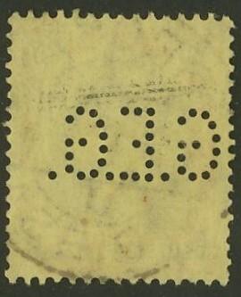 Deutsches Reich   -   Firmenlochungen 18_210