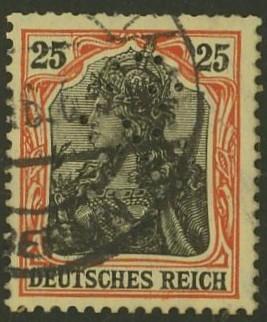 Deutsches Reich   -   Firmenlochungen 19_110