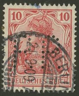 Deutsches Reich   -   Firmenlochungen 20_110