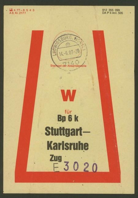 Beutelfahnen der Bahnpost Beutel14