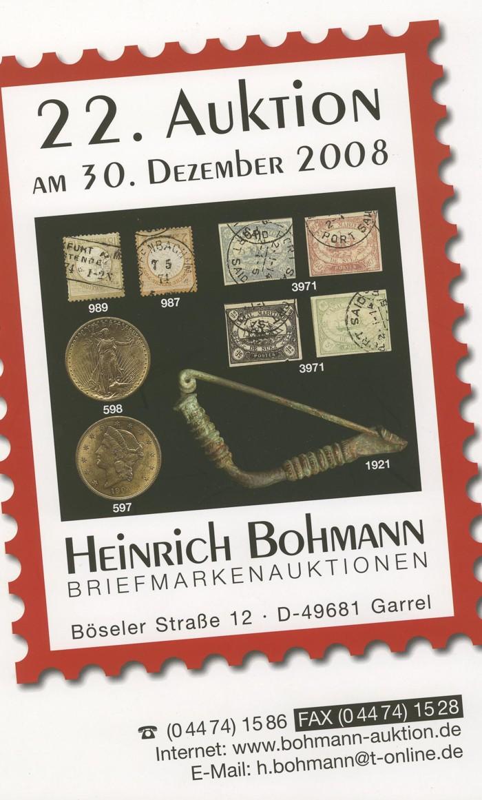 Auktionsangebote für Luftpostsammler, Bohman11