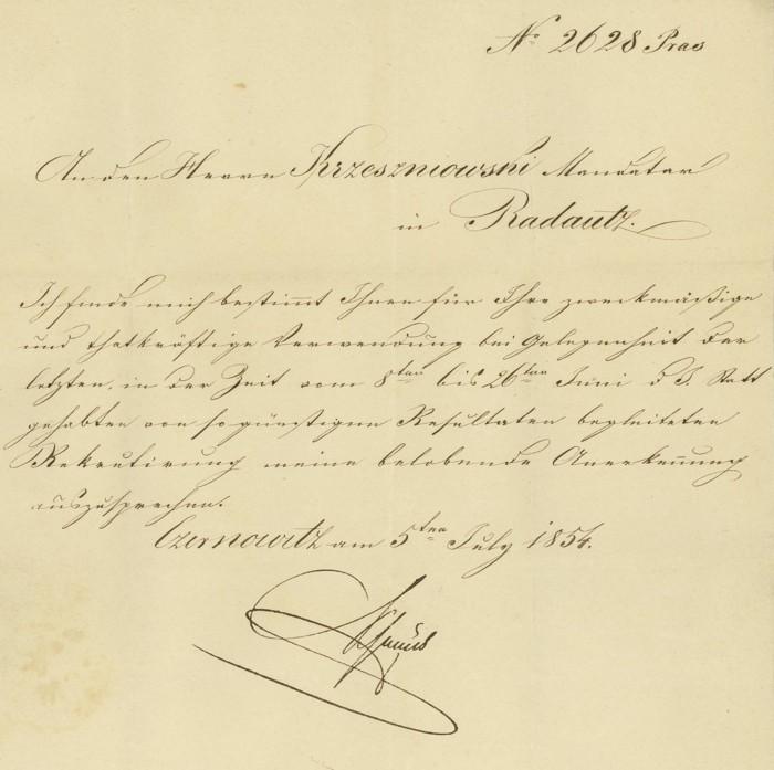 Nachtrag - Vorphilatelie Österreich  -   Briefe aus der Vormarkenzeit Czerno12
