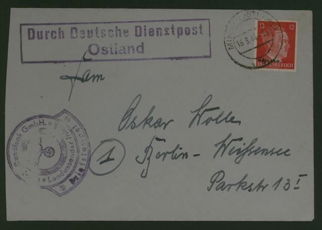 Deutsche Dienstpost   -   Ostland Deutsc10
