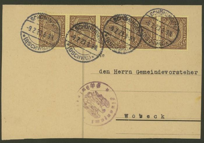 Deutsches Reich  -  Dienstmarken Dienst10