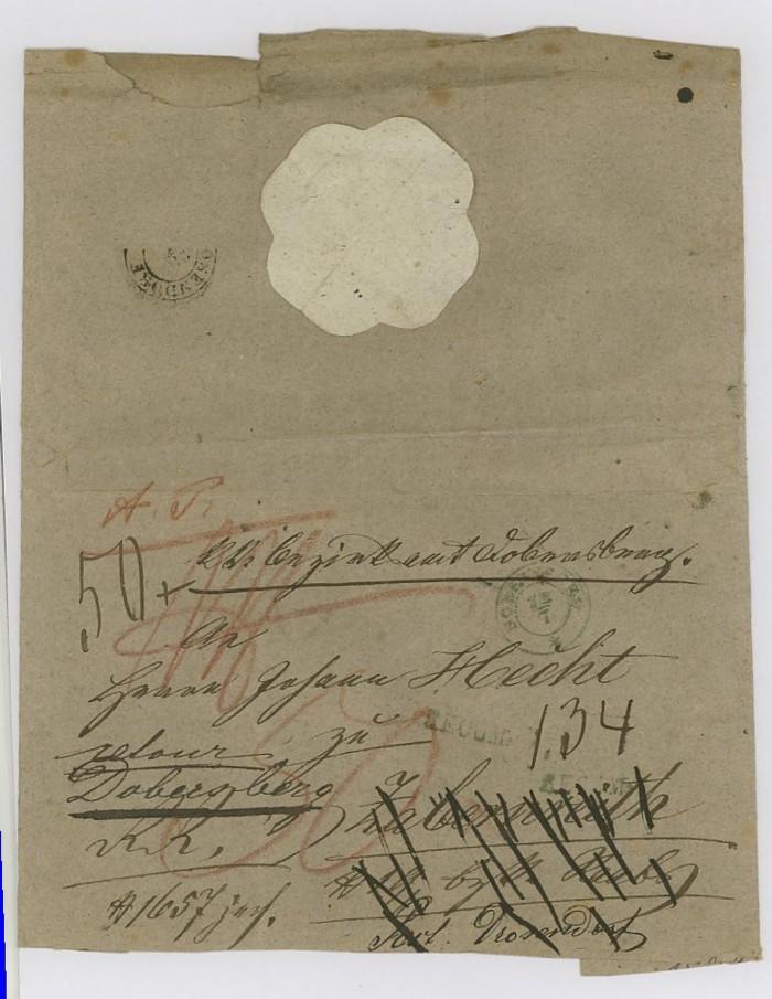 Vorphilatelie Österreich  -   Briefe aus der Vormarkenzeit Dobers10