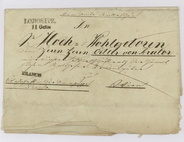 Vorphilatelie Österreich  -   Briefe aus der Vormarkenzeit Lobosi10