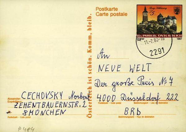 Postkarten ab 1986 bis 2005 bedarfsgelaufen P_48410