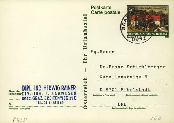 Postkarten ab 1986 bis 2005 bedarfsgelaufen P_49810